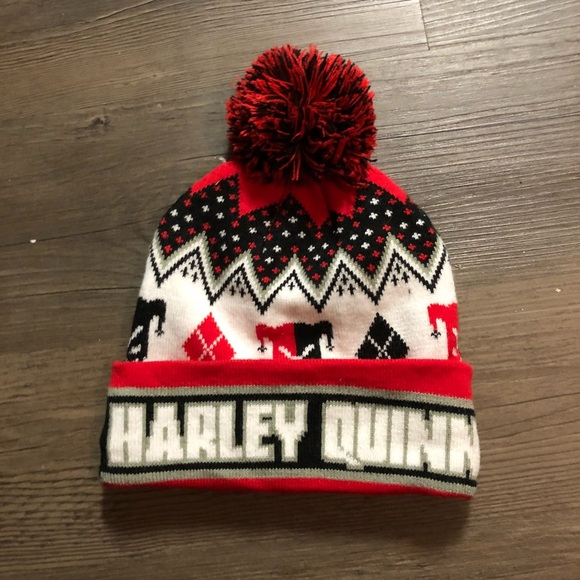 b1d872bd273 Harley Quinn Pom Pom Beanie